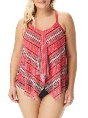 Beach House Womens Plus Size Drift Away Kerry Underwire Tankini Top Style-HW30254
