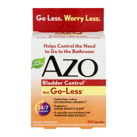 Azo Bladder Control With Go Less   54 Ct