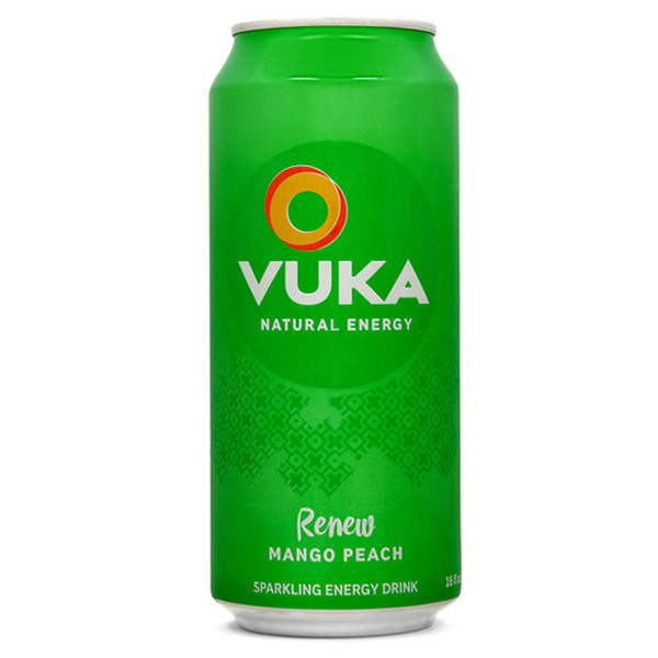 Vuka Renew Mango Peach Sparkling Energy Drink 16 oz Cans ...