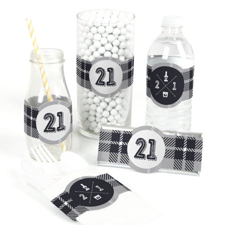 Finally 21 - 21st Birthday - DIY Party Wrapper Favors - Set of 15 - Things To Do For 21st Birthday