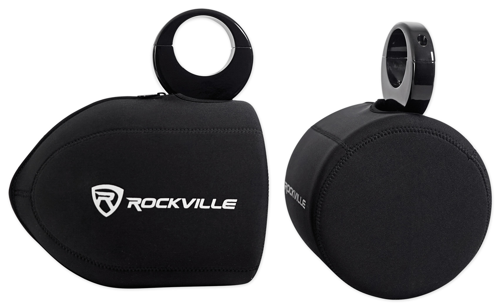 """Pair Marine Neoprene Covers For Clarion CM1624T 6.5"""" Wakeboard Tower Speakers by ROCKVILLE"""