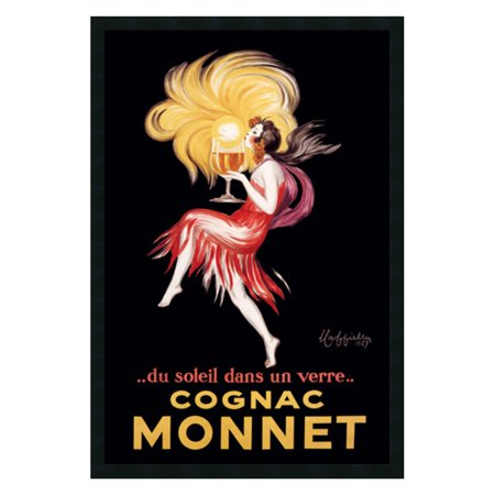 Cognac Monnet (ca. 1927) Framed Wall Art by Leonetto Cappiello - 25.41W x 37.41H in.