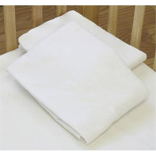 L A BABY 3004-WH Knitted Fitted Sheet For Compact Crib Natural 100% Cotton Fabric- White