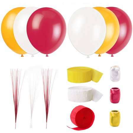 Kansas City Chiefs Basic Decoration 15pc Decoration Pack, Red Gold White - Party City Sale