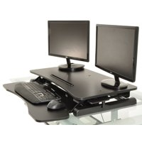 Portabe Height Adjustable Standing Desk Foldable Wooden Computer Table Ergonomic Desk With Keyboard Holder