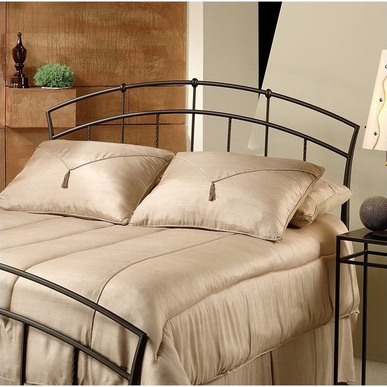 Hillsdale Vancouver Metal Headboard in Dark Brown Antique Finish-King