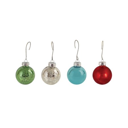 Mini Red Green Blue and Silver Balls Glass Christmas Tree ...