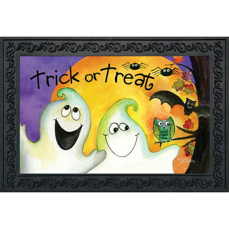 Trick or Treat Ghouls Halloween Doormat Ghosts Indoor Outdoor 18