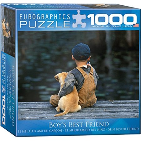 EuroGraphics Small Box Boy's Best Friend Puzzle (1000 (Best Friend Puzzle Piece Tattoo)