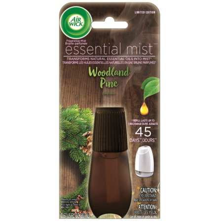 Air Wick Essential Mist, Fall Scent Essential Oils Diffuser Refill, Woodland Pine, 1ct, Air Freshener, Fall décor ()