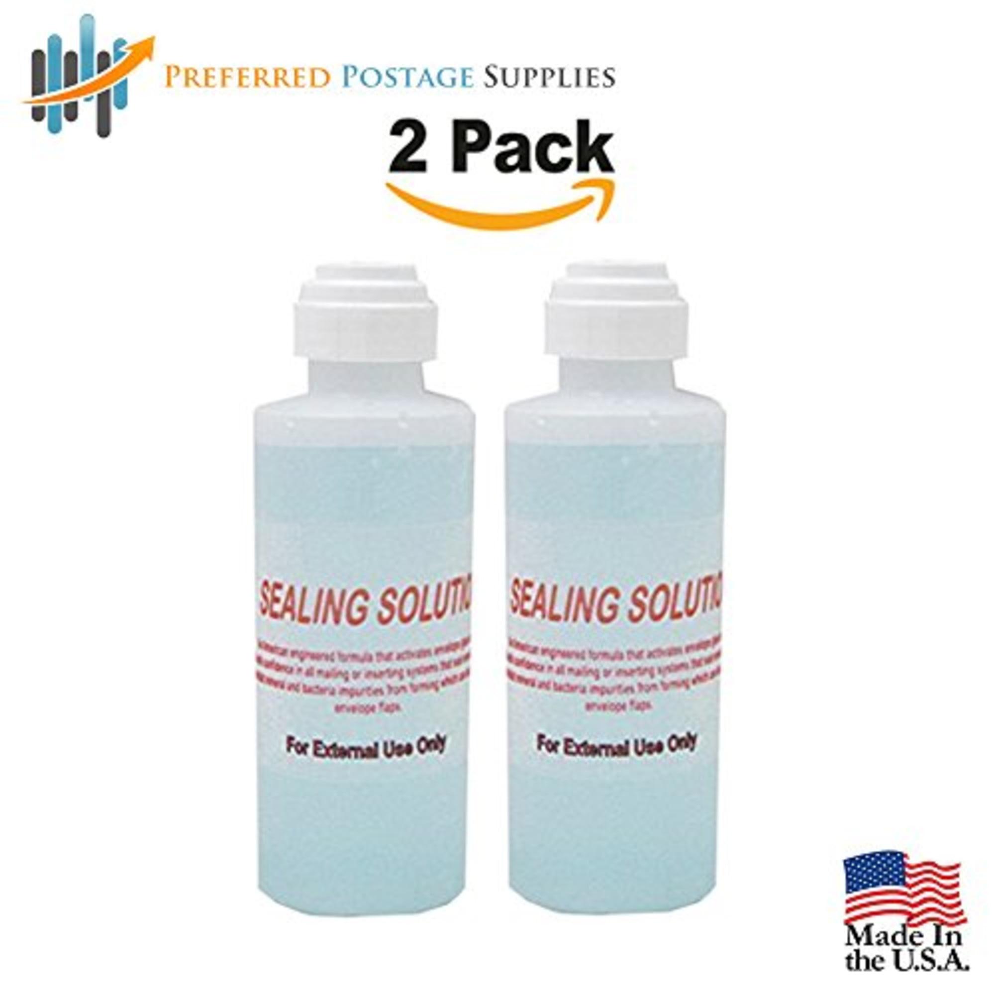 (Money Saver 2-Pack) Envelope Moistner (240 ML) (7200 Envelopes) E-Z Seal Compatible 4 oz. Dabber bottle of sealing solution Pitney Bowes Sealing Solution 601-7 Postage Stamp Envelope Seal