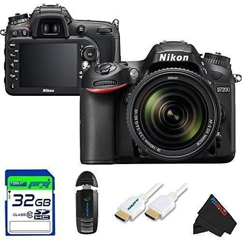 Nikon D7200 DSLR Camera with 18-140mm Lens + Pixi-Basic Accessory Kit
