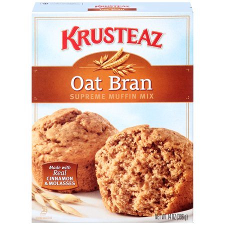 Oat Bran Pancake Mix - Krusteaz Oat Bran Muffin Mix, 14 oz,