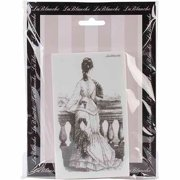 "LaBlanche Silicone Stamp 5.5""X3""-Gazing Lady"