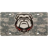 Georgia Bulldogs Digi Camo Laser Cut License Plate - No Size