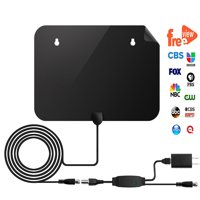 [2019 Newest] HDTV Antenna - Indoor Digital 50 Mile Range 4K HD VHF UHF Freeview Television Local Channels w/ Detachable Signal Amplifier & 13ft Coax Cable