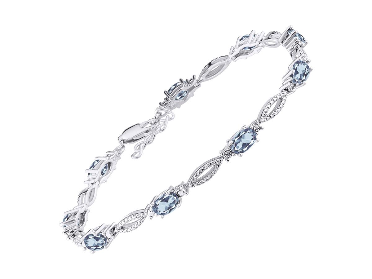 Tennis Bracelet Birthstone Bracelet 925 Sterling Silver Bracelet Natural White Pearl Bracelet Women Bracelet Cabochon Gemstone Bracelet