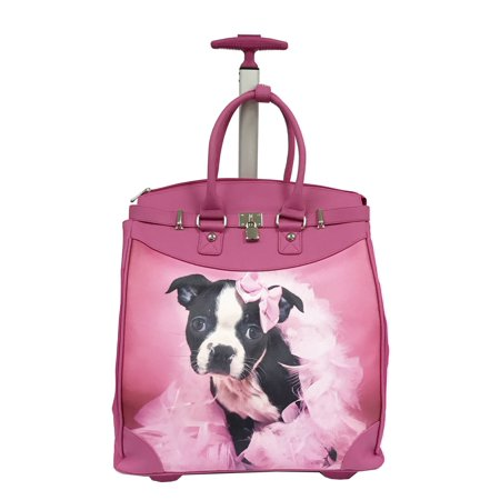 Rollies USA Rollies Puppy Princess Pink 14-inch Rolling Laptop Travel
