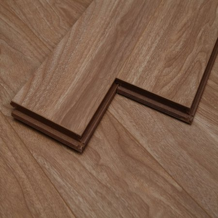 Walnut Laminate Flooring - Dekorman Natural Walnut #1235H 12mm Click-Locking Laminate Flooring - 5in x 7in Take Home Sample