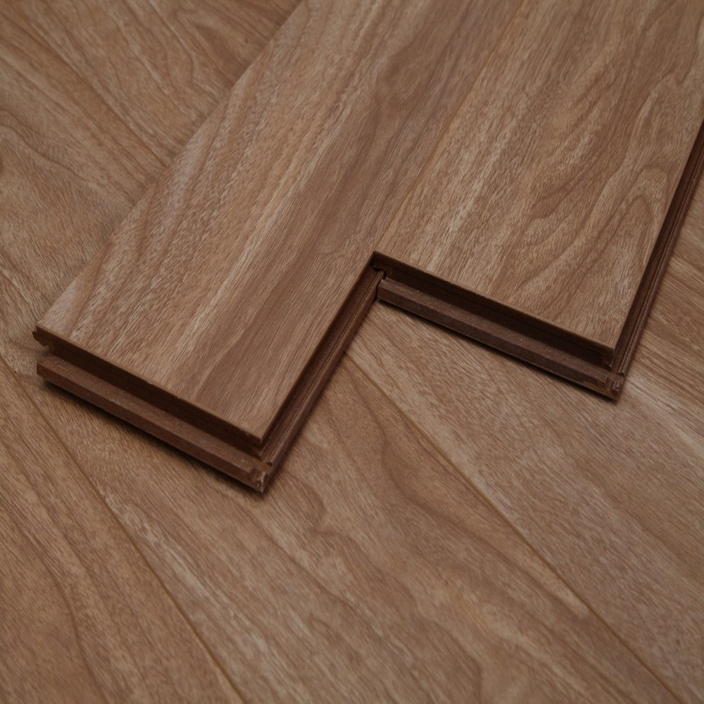 Dekorman Natural Walnut #1235H 12mm Click-Locking Laminate Flooring - 5in x 7in Take Home Sample
