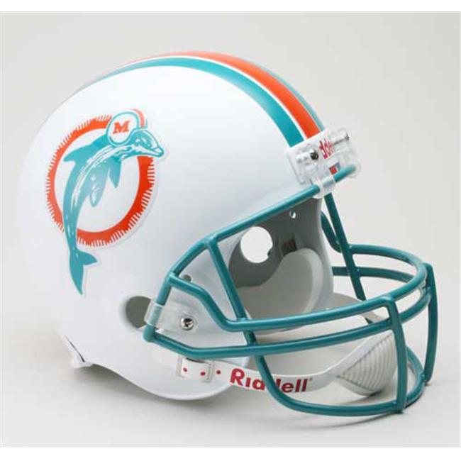 Creative Sports RD-DOLPHINSTB-R80-96 Miami Dolphins 1980-1996 Throwback Riddell Full Size Deluxe Replica Football Helmet