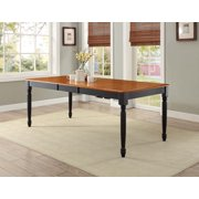 Better Homes and Gardens Autumn Lane Dining Table with Leaf, Black/Oak