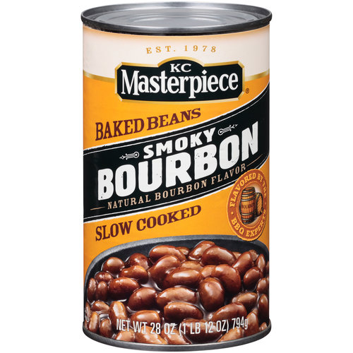 Kc Masterpiece Smokey Bourbon Baked Beans, 28 Oz