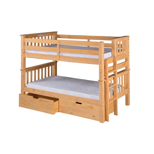 Camaflexi Santa Fe Mission Twin over Twin Bunk Bed with Storage