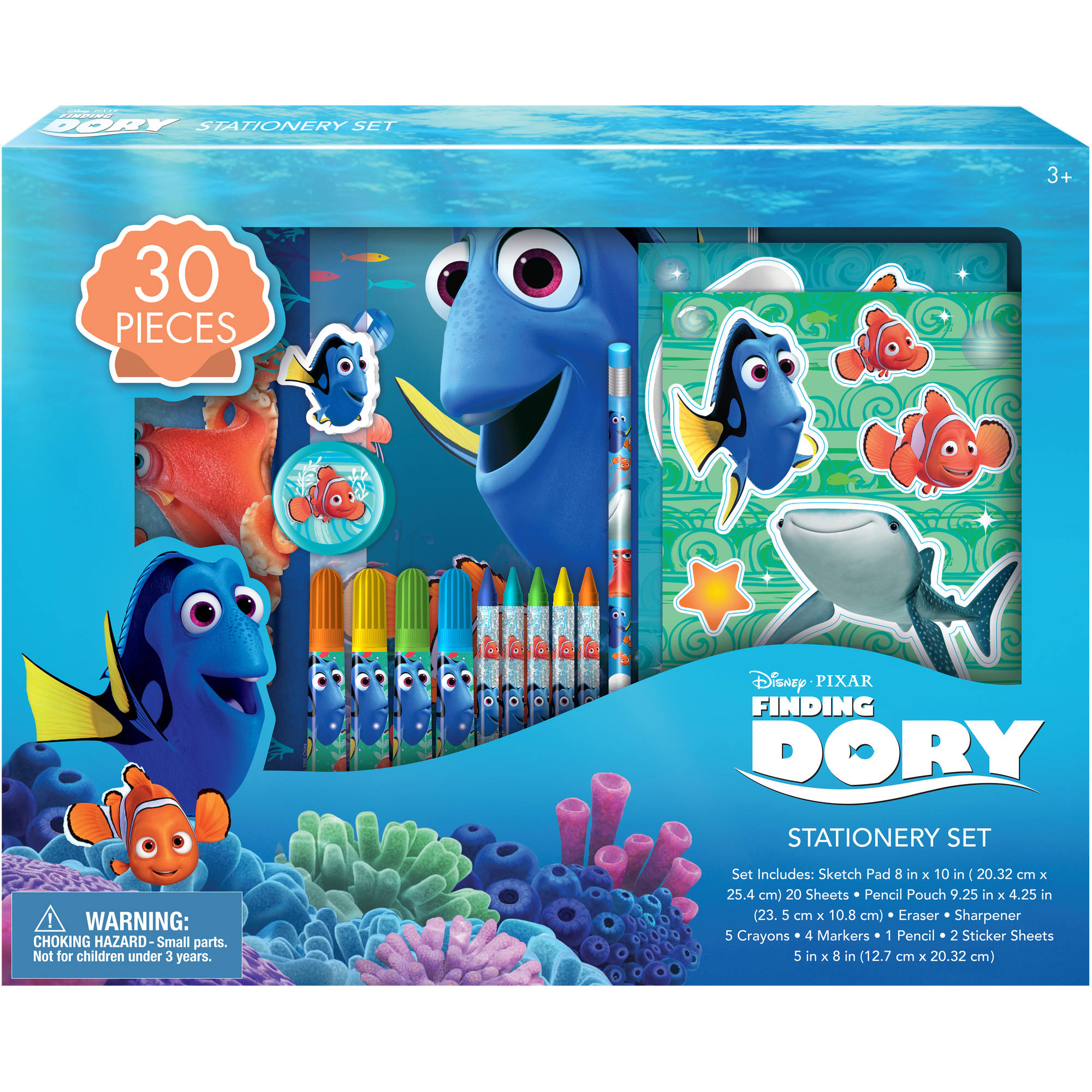 Finding Dory School Stationary Bundle, 30 Pieces