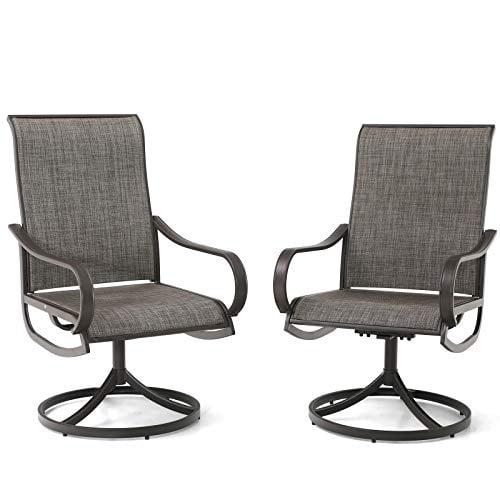 Phi Villa Patio Swivel Dining Chairs, Patio Furniture Swivel Rocker Chairs