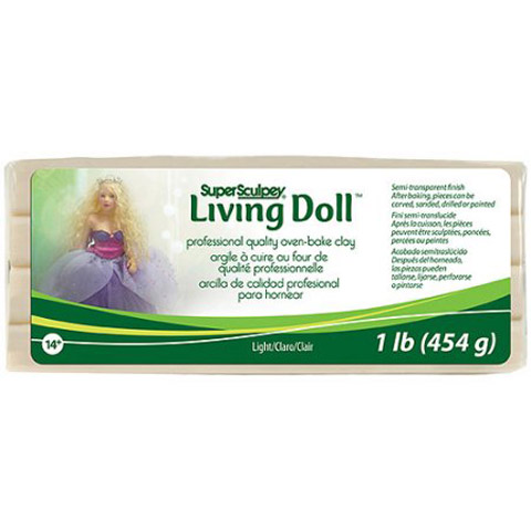 Sculpey Living Doll Clay: Light, 1 pound