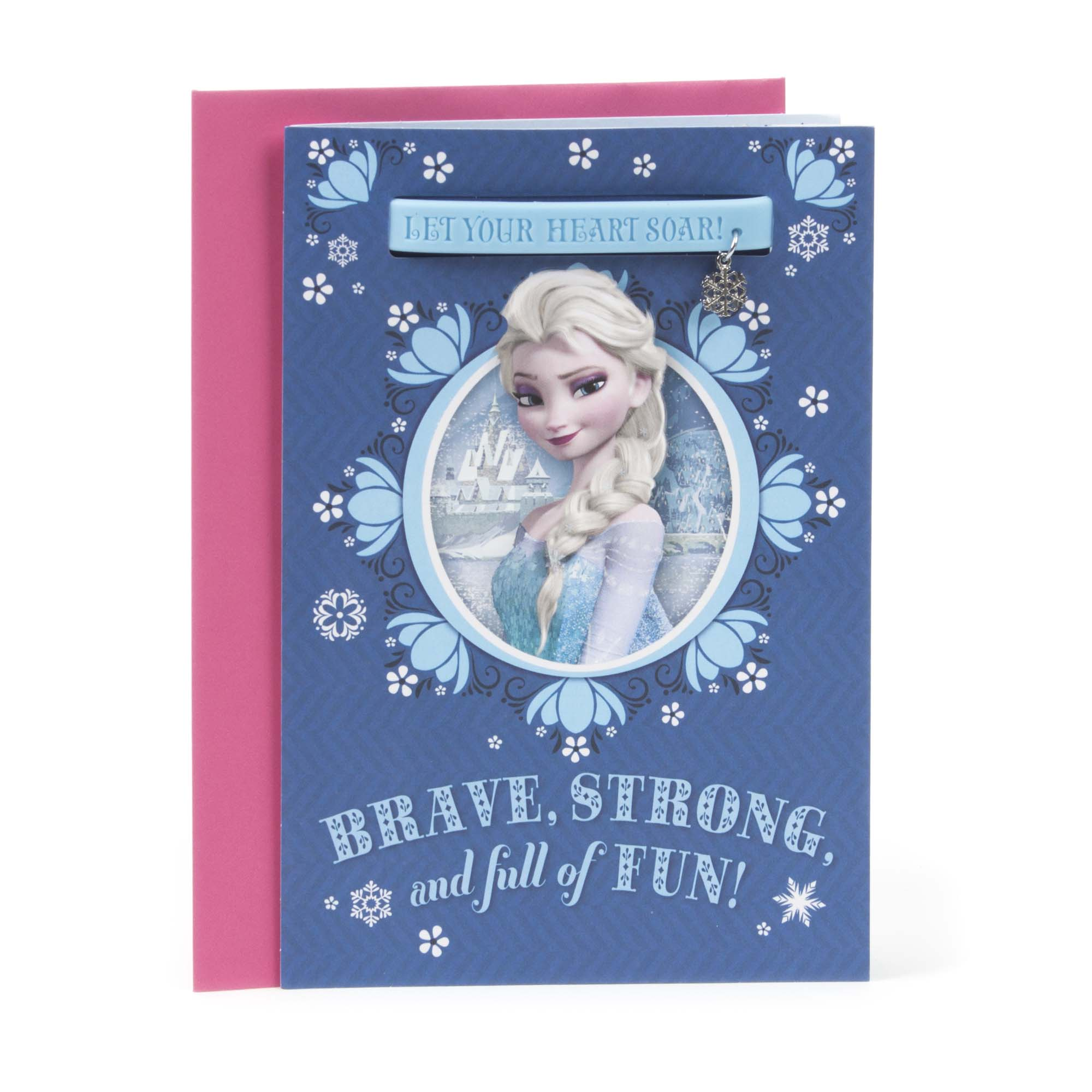Hallmark, Elsa Frozen Charm Bracelet, Birthday Greeting Card, for Girl