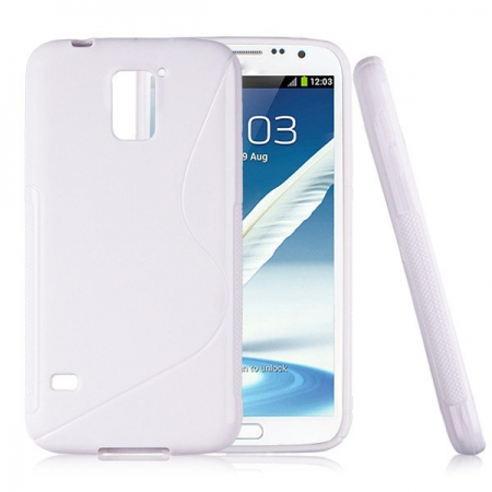 Frosted S Curve TPU Case for Samsung Galaxy S5 I9600 - White - image 1 of 1