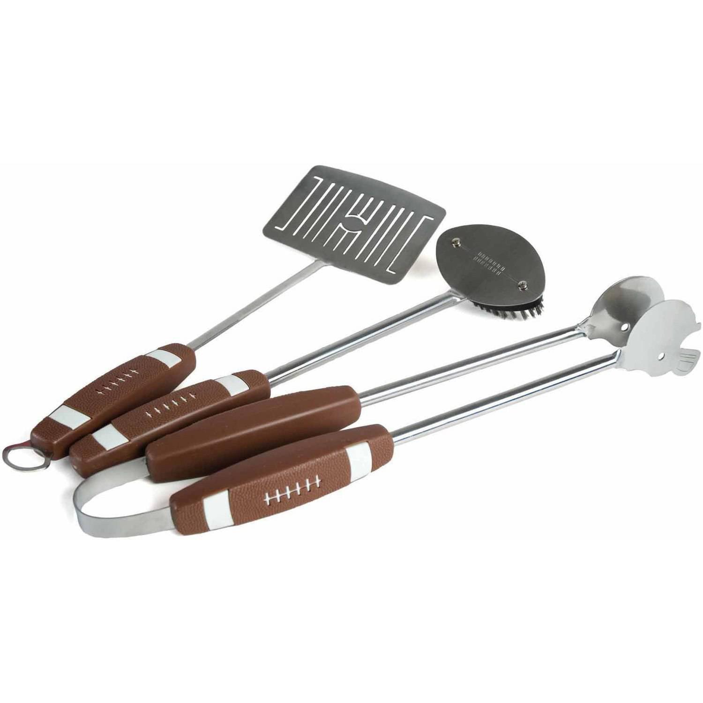 Charcoal Companion 3-Piece Football BBQ Tool Set: