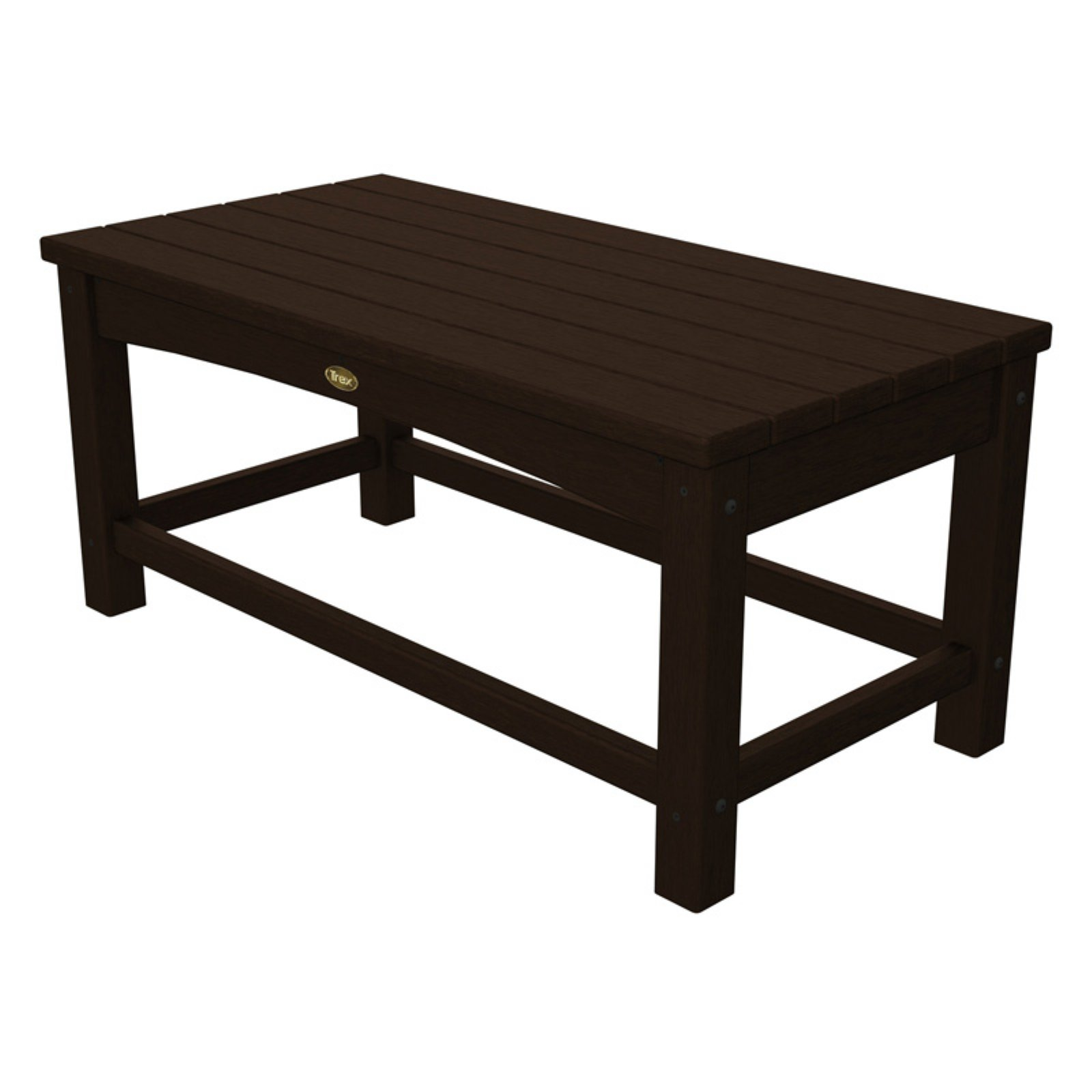 Trex Outdoor Furniture Recycled Plastic Rockport Club Coffee Table by Poly-Wood