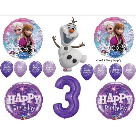 Frozen Olaf Purple 3rd Disney Movie BIRTHDAY PARTY Balloons Decorations Supplies by Anagram by Anagram - Olaf Birthday
