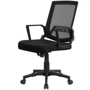 Adjustable Mesh Office Chair Computer Chair 275lb Weight Capacity with Armrest Black