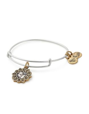 Zodiac Gemini Crystal Charm Bangle Bracelet