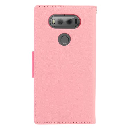 official photos 3ee3f 1bee9 LG V20 Case, LG V20 Phone Case by Insten Stand Book-Style Leather [Card  Holder Slot] Wallet Pouch Case Cover For LG V20, Pink