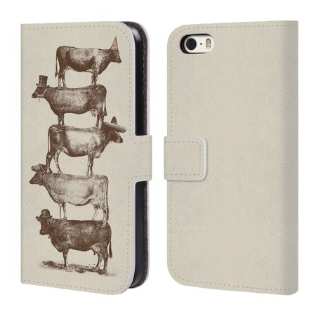 OFFICIAL FLORENT BODART ANIMALS 2 LEATHER BOOK WALLET CASE COVER FOR APPLE IPHONE PHONES