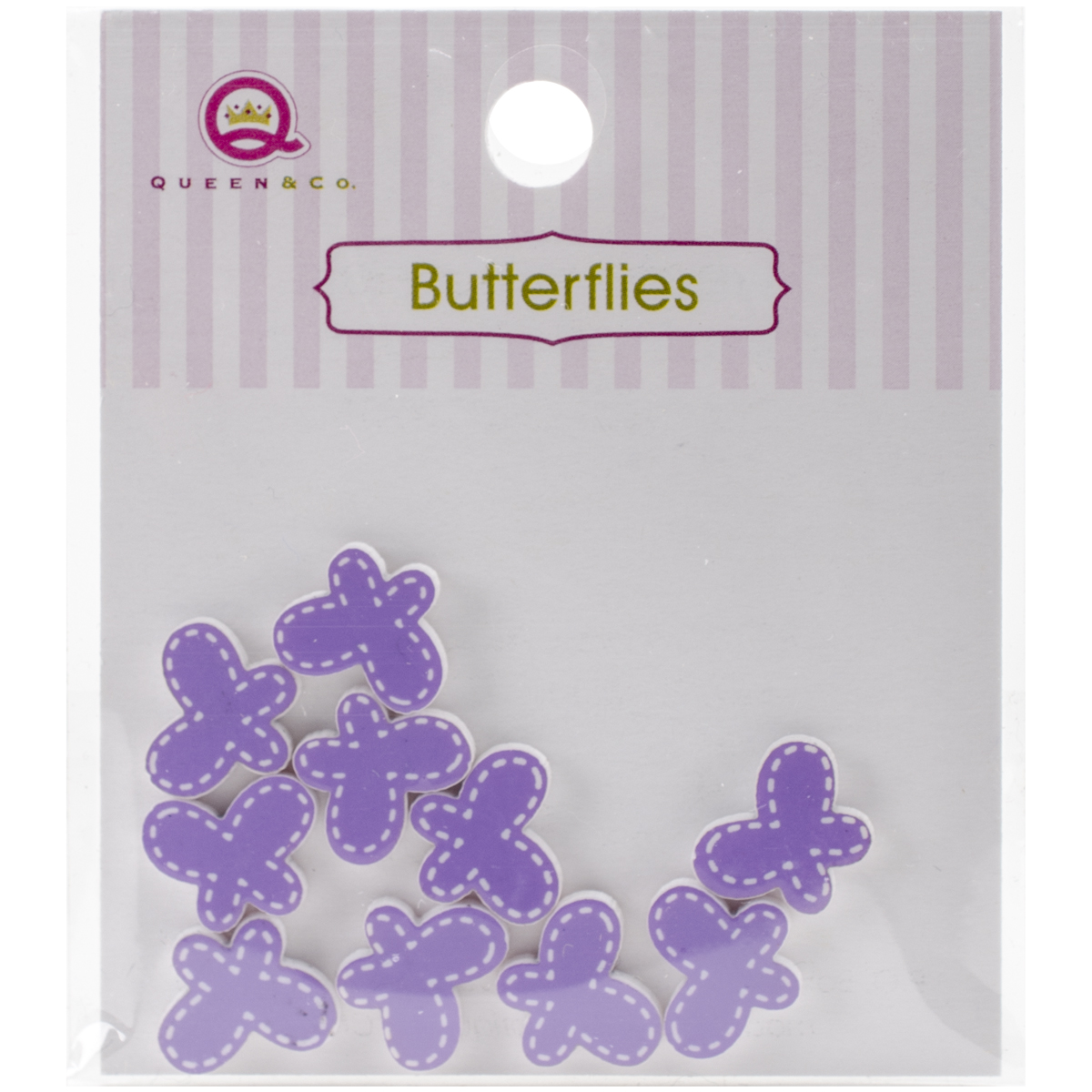 Queen & Co Resin Butterfly 10/Pkg-Purple