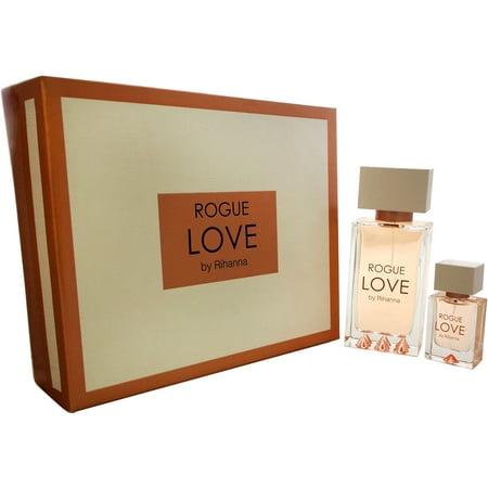 Rogue Love par Rihanna pour les femmes - 2 Pc Gift Set spray EDP 4,2 oz, 0,5 oz EDP vaporisateur