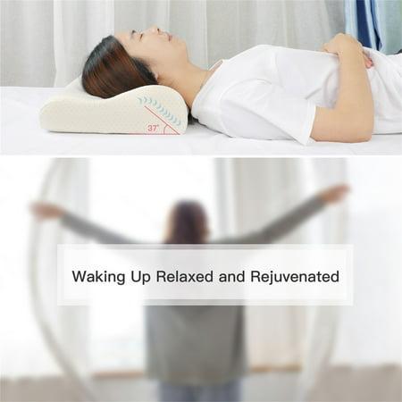 Sleep Contoured Memory Foam Pillow Neck Support Pillow Standard Size 50 x 30 x 12/10cm - image 2 de 8