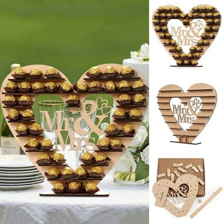 Wedding Cake Table Ideas (KABOER Chocolate MR MRS Sweet Table Candy Cake Display Stand Holder Wedding)