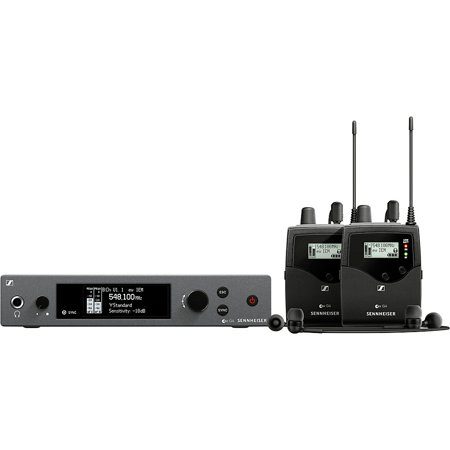 Sennheiser ew IEM G4-Twin Wireless Stereo Monitoring Set with Transmitter & 2x Receiver, A: 516 - 558 (Sennheiser Me 2 Omni Directional Lavalier Ew Microphone)