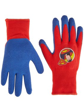 Midwest Quality Gloves SFS100T-T-AZ-6 DCWalmartics Super Friends Super Man Gripper Glove, Toddler, Multicolor, The latex coating gives increased.., By Midwest Gloves Gear