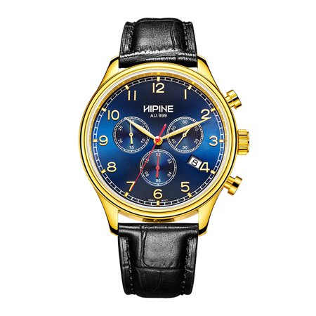 Hipine 24K Gold Watches For Men Power Control
