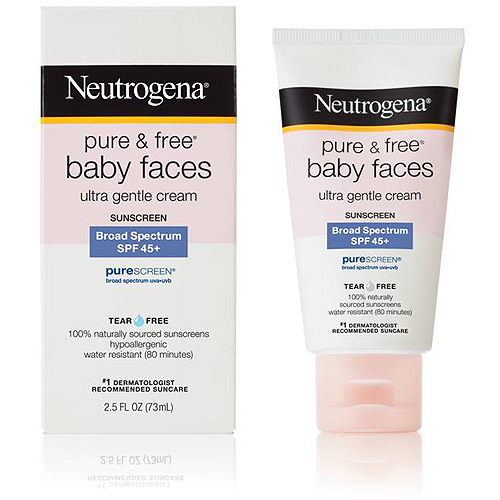 Neutrogena Pure and Free Baby Faces Ultra Gentle Sunscreen Broad Spectrum SPF 45, 2.5 oz