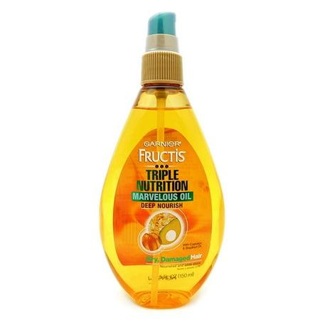 Garnier Fructis Triple Nutrition Marvelous Oil Deep Nourish Dry, Damaged Hair 5 Fl (Best Oil For Dry And Damaged Hair)