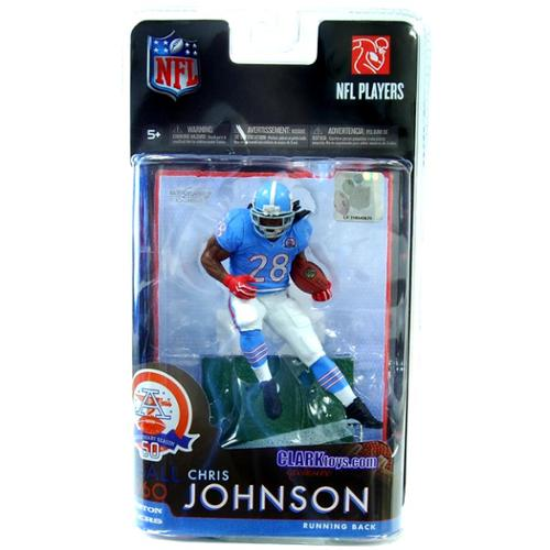 Mcfarlane 2010 NFL Series 24 Figure - Chris Johnson - Houston Oilers - Afl 50Th Anniversary Throwback Jersey Tennessee Titans MFB24FBTENCJTB